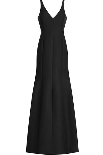 gown cotton silk black dress