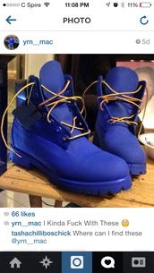 shoes,royal blue timberland boots