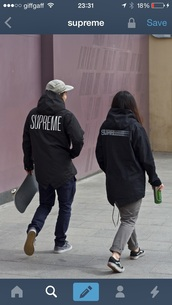 coat,supreme,stussy,streetwear,street,tumblr,jacket,bape,hood by air,black