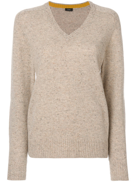 Joseph top ribbed top women nude wool