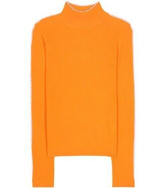 top wool orange