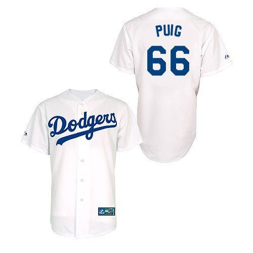 LOS ANGELES DODGERS Yasiel Puig White YOUTH Jersey M | eBay