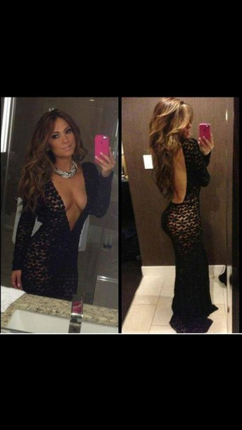 dress j-lo backless dress lace dress