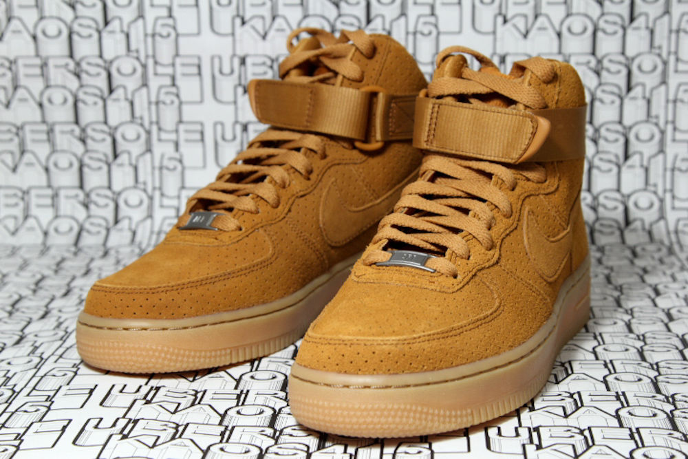 Nike Air Force 1 TanTawny Suede flax wheat qs High Boot