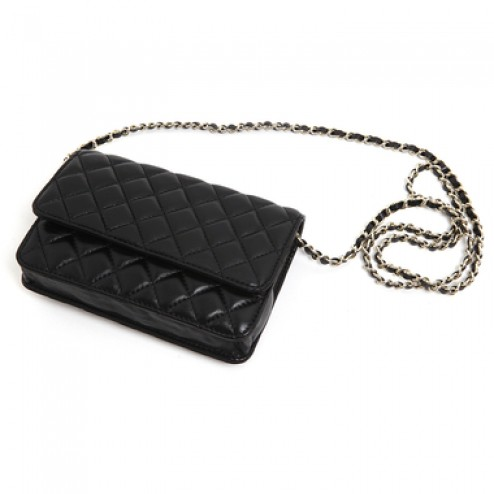 Lambskin mini quilting chain purse
