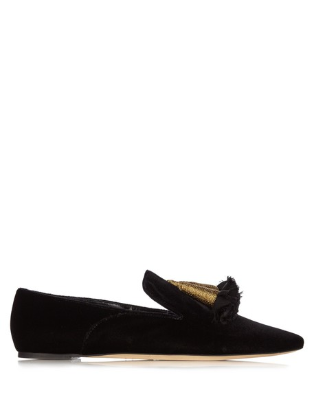 SANAYI 313 moccasins embroidered velvet gold black shoes