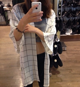 blouse checkered shirt mirror