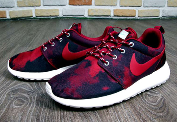 buy popular 0d46c 1a530 ... womens nike roshe run speckle red blue .