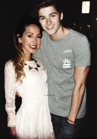 dress zoella white dress white girl happy blogger jacksgap lace