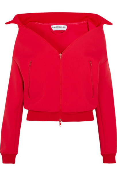 Balenciaga Swing Jersey Jacket Red