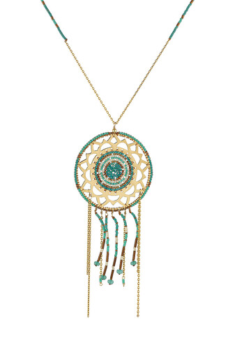 embellished necklace multicolor jewels