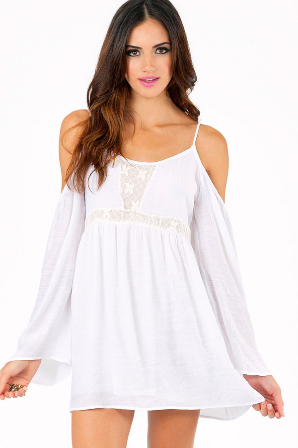 Parade Around Cold Shoulder Dress - Tobi