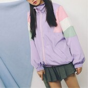 jacket,lilac,pastel,summer jacket,long sleeves,trendy,fashion,style,girly,boogzel