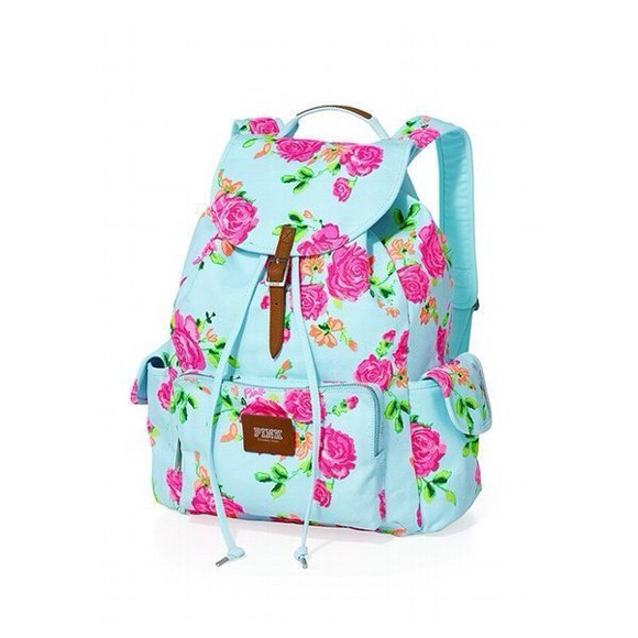 floral bag backpack book bag back to school
