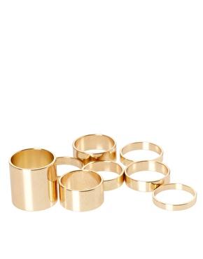 ASOS | ASOS – Glatte Ringe im 8er-Pack bei ASOS
