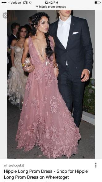 dress vanessa hudgens pink prom dress gown prom dress