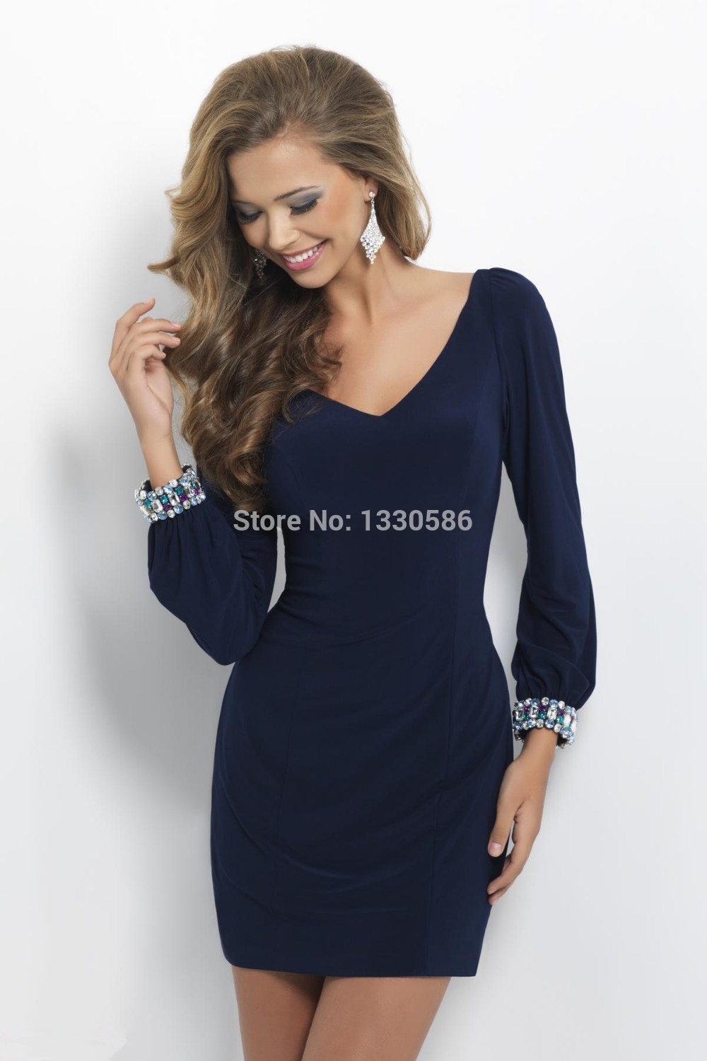 Navy Blue Tight Homecoming Dresses