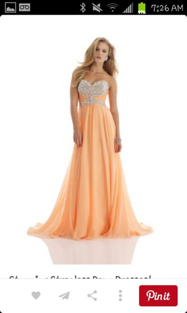 dress orange orange dress pastel orange prom dress prom sequins