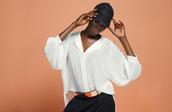 skirt,white blouse,rose belt,metal belt,lace,lace hat,white,black skirt,asymmetrical hem,asymmetrical skirt,black asymmetrical skirt,nastygal,lookbook,hat,blouse,belt