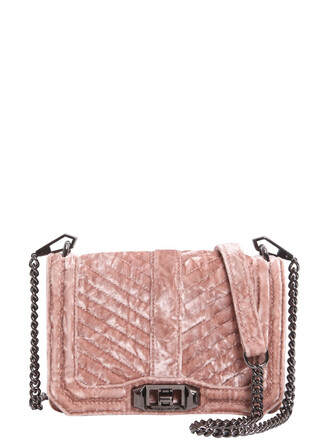 love quilted bag crossbody bag velvet chevron