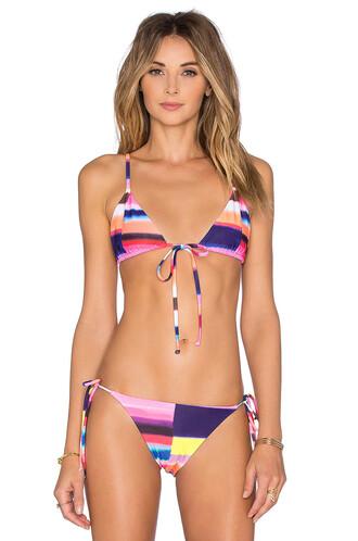 bikini bikini top triangle bikini triangle pink
