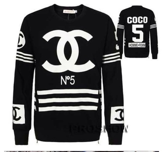 blouse chanel chanel t-shirt sweater swag style cool girl style t-shirt