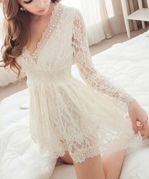 Dress Sammydress Lace Dress Clothes Lace White Romantic Summer Dress Feminine Fashion