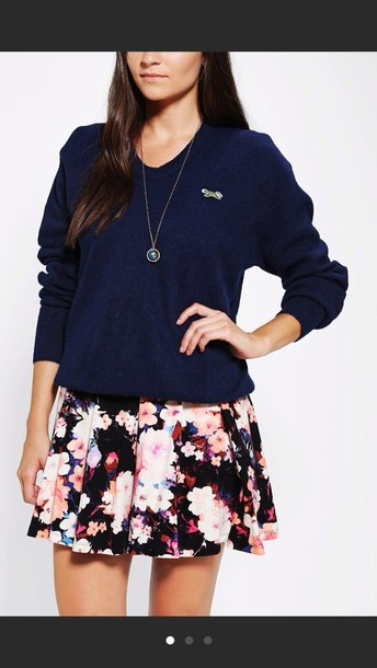 skirt urban outfitters floral pretty