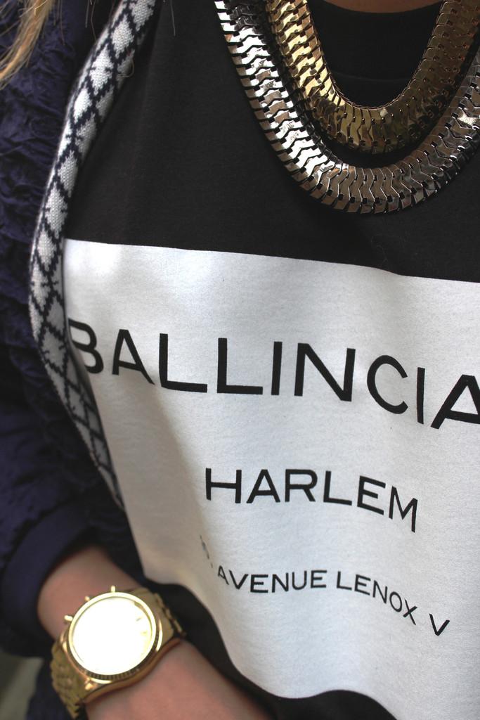 Ballinciaga Black T-shirt – Glamzelle