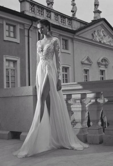 dress white dress color clothes beautiful lace lace dress