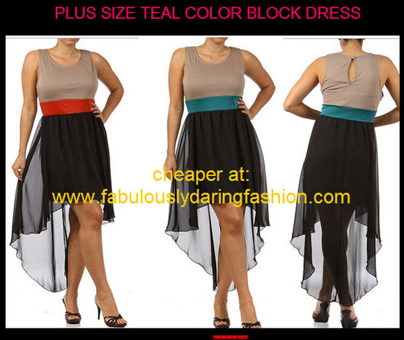 color block dress cute dress high low dress plus size dress two tone dress color block drress