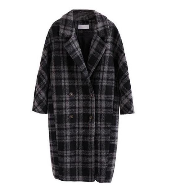 coat girly plaid plaid jacket trench coat winter coat