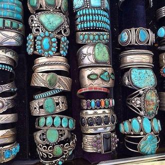 jewels bracelets blue turquoise beach silver jewelry indie boho