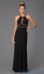 dress,halterneck,prom,maxi,maxi dress,gold,black,black dress