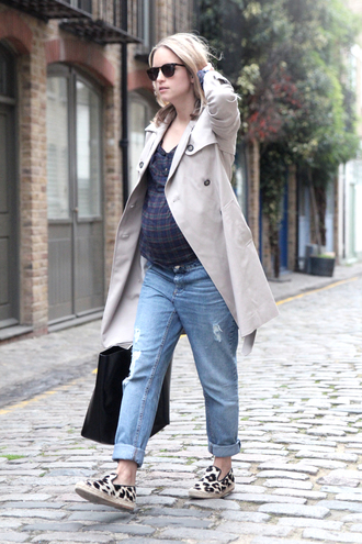 the fashion guitar coat shirt jeans shoes bag sunglasses