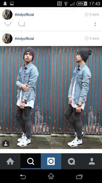 urban menswear denim shirt menswear mens skinny jeans