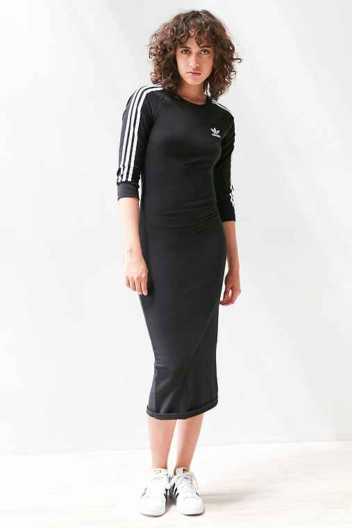 7abcd8101a Bella Hadid wears a Adidas black dress available for  60 at  urbanoutfitters.com - Wheretoget