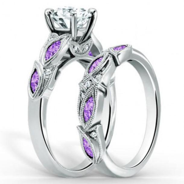 jewels chic ring set evoleescom vintage fourprong setting big