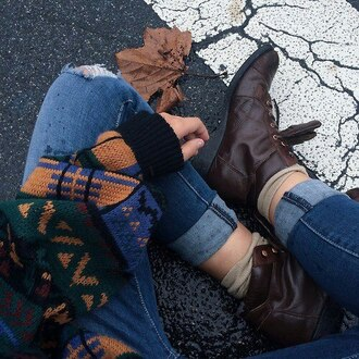 sweater vintage warm sweater winter sweater indie hipster retro secondhand old top fall sweater fall outfits fall colors jumper orange green tumblr aesthetic