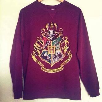 harry potter hogwarts burgundy sweater hp winered