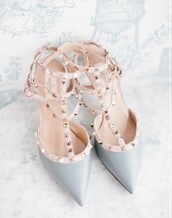 shoes,sandals,cute shoes,high heels,cute high heels,sandal heels,high heel sandals,girly,grey,grey heels,wedding,wedding shoes,dress shoes,dress heels,studded shoes,pointed toe pumps,pointed toe,d'orsay pumps