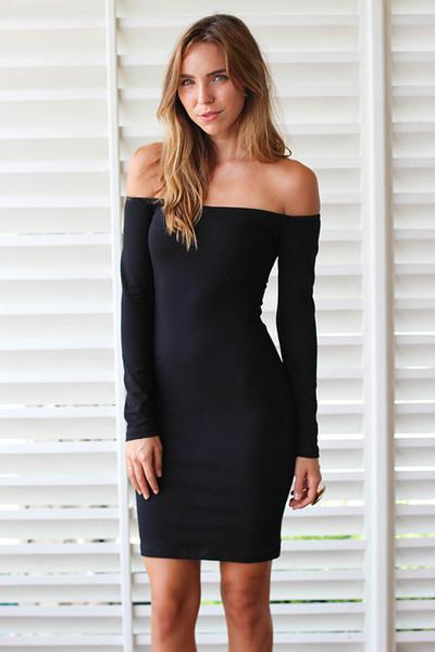 Motel deborah long sleeve off the shoulder dress