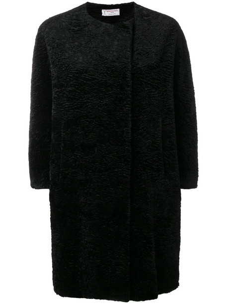 Alberto Biani coat fur faux fur women cotton black