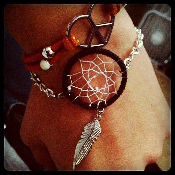 Dream catcher bracelet by lexxxibellemakeup on etsy