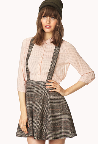 Crisp Plaid Overall Skirt | FOREVER21 - 2000071853
