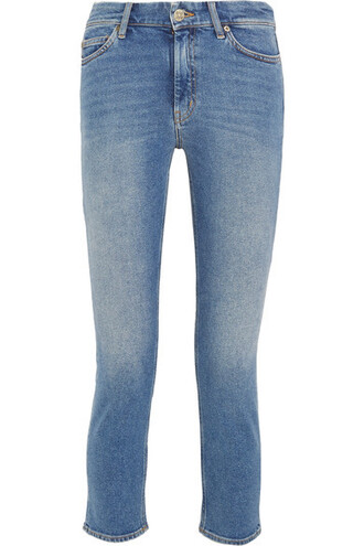 jeans skinny jeans denim cropped high