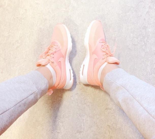shoes air max nike nike air pink girly sneakers