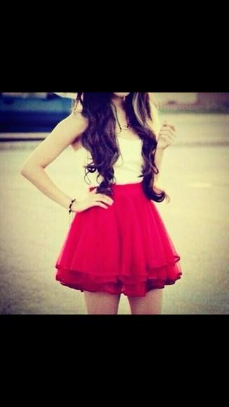 skirt red skirt red