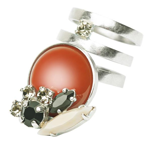 Semi precious stone ring - Ines Atelier