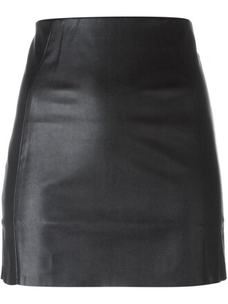 skirt leather black